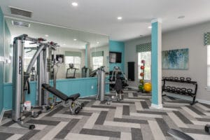 Our 24 hour fitness center with equipment