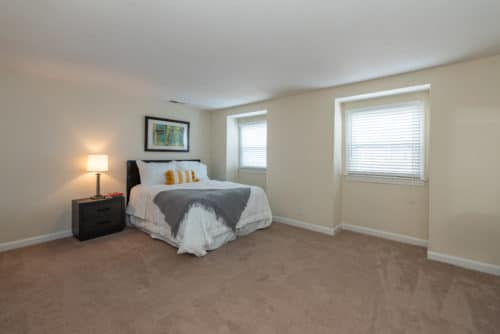 main bedroom at walkers chase townhomes