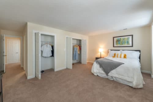 large main bedroom closet walkers chase townhomes