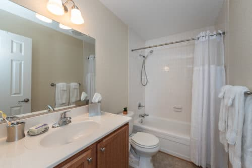 guest bathroom at walkers chase townhomes