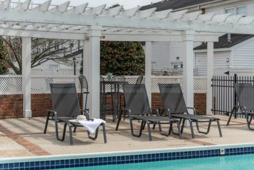 chairs by a pool